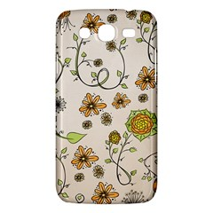 Yellow Whimsical Flowers  Samsung Galaxy Mega 5 8 I9152 Hardshell Case  by Zandiepants