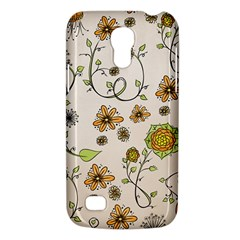 Yellow Whimsical Flowers  Samsung Galaxy S4 Mini (gt I9190) Hardshell Case  by Zandiepants