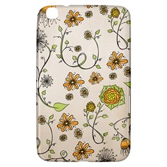 Yellow Whimsical Flowers  Samsung Galaxy Tab 3 (8 ) T3100 Hardshell Case  by Zandiepants