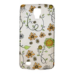 Yellow Whimsical Flowers  Samsung Galaxy S4 Active (i9295) Hardshell Case by Zandiepants