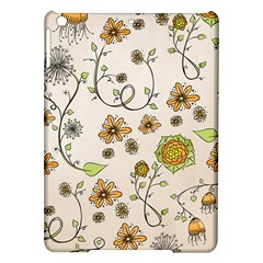 Yellow Whimsical Flowers  Apple Ipad Air Hardshell Case by Zandiepants