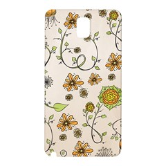 Yellow Whimsical Flowers  Samsung Galaxy Note 3 N9005 Hardshell Back Case by Zandiepants