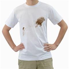 Sandy the Lion Men s T-Shirt (White)  by Contest1883496