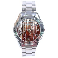 Automn Swamp Stainless Steel Watch by cgar