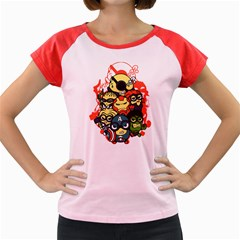 Despicable Avengers Women s Cap Sleeve T-Shirt (Colored) by Contest1736614