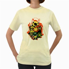 Despicable Avengers Women s T Shirt (yellow) by Contest1736614