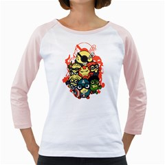 Despicable Avengers Women s Long Cap Sleeve T-Shirt (White)  by Contest1736614