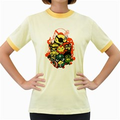 Despicable Avengers Women s Ringer T Shirt (colored) by Contest1736614