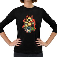 Despicable Avengers Women s Long Sleeve T-shirt (Dark Colored)