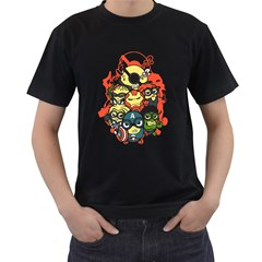 Despicable Avengers Men s T-shirt (Black)