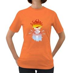 Captain Flame Women s T Shirt (colored)