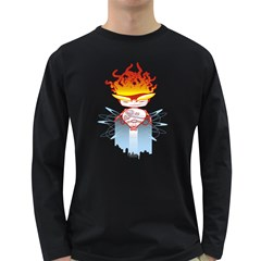 Captain Flame Men s Long Sleeve T Shirt (dark Colored)