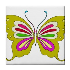 Color Butterfly  Ceramic Tile by Colorfulart23