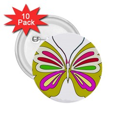 Color Butterfly  2 25  Button (10 Pack) by Colorfulart23