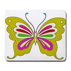 Color Butterfly  Large Mouse Pad (rectangle) by Colorfulart23