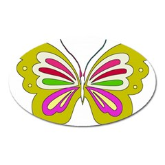 Color Butterfly  Magnet (oval) by Colorfulart23