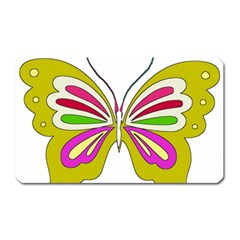 Color Butterfly  Magnet (rectangular) by Colorfulart23