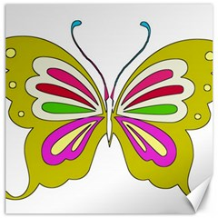 Color Butterfly  Canvas 16  X 16  (unframed) by Colorfulart23