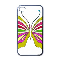 Color Butterfly  Apple Iphone 4 Case (black) by Colorfulart23