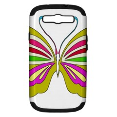 Color Butterfly  Samsung Galaxy S Iii Hardshell Case (pc+silicone) by Colorfulart23