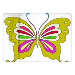 Color Butterfly  Samsung Galaxy Tab 10.1  P7500 Flip Case