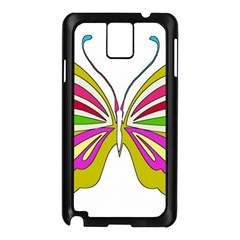 Color Butterfly  Samsung Galaxy Note 3 N9005 Case (Black) by Colorfulart23