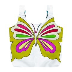 Color Butterfly  Reusable Bag (l) by Colorfulart23