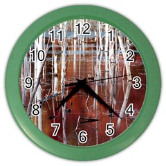 Swamp2 Filtered Wall Clock (color) by cgar