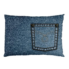 Jeans By Divad Brown   Pillow Case (two Sides)   12x1ztniax7w   Www Artscow Com Back