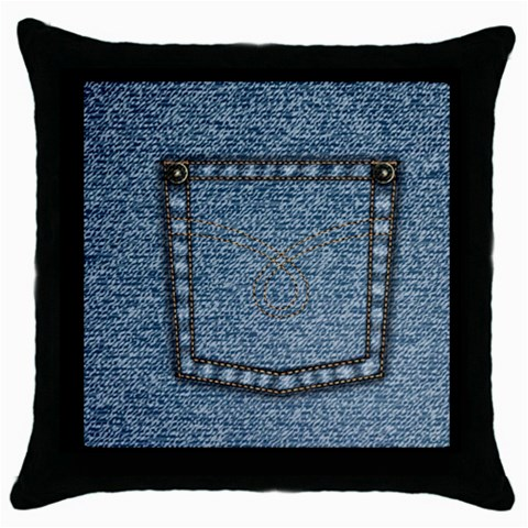 Jeans By Divad Brown   Throw Pillow Case (black)   3ikiwktnclwl   Www Artscow Com Front