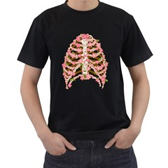 Blossoms Ribs Men s T Shirt (black) by Contest1753604