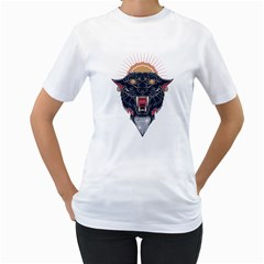 Flash Panther Women s T Shirt (white)