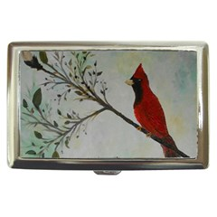 Sweet Red Cardinal Cigarette Money Case by rokinronda
