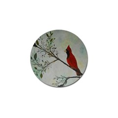 Sweet Red Cardinal Golf Ball Marker 10 Pack by rokinronda
