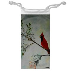 Sweet Red Cardinal Jewelry Bag by rokinronda