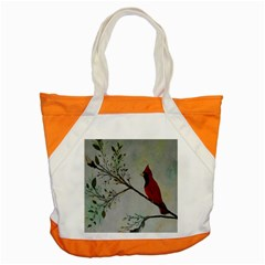 Sweet Red Cardinal Accent Tote Bag by rokinronda