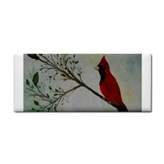 Sweet Red Cardinal Hand Towel by rokinronda