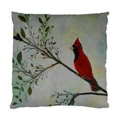 Sweet Red Cardinal Cushion Case (single Sided)  by rokinronda