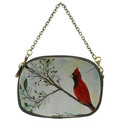 Sweet Red Cardinal Chain Purse (two Sided)  by rokinronda