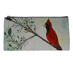 Sweet Red Cardinal Pencil Case by rokinronda