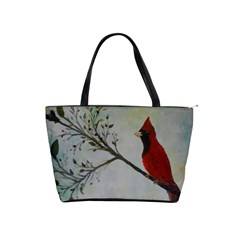 Sweet Red Cardinal Large Shoulder Bag by rokinronda
