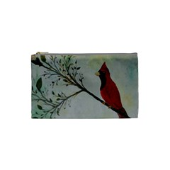 Sweet Red Cardinal Cosmetic Bag (small) by rokinronda