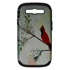 Sweet Red Cardinal Samsung Galaxy S Iii Hardshell Case (pc+silicone) by rokinronda