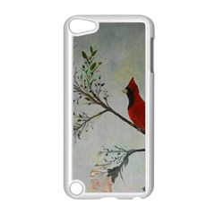 Sweet Red Cardinal Apple Ipod Touch 5 Case (white) by rokinronda
