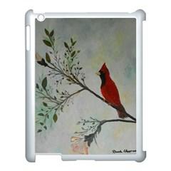 Sweet Red Cardinal Apple Ipad 3/4 Case (white) by rokinronda
