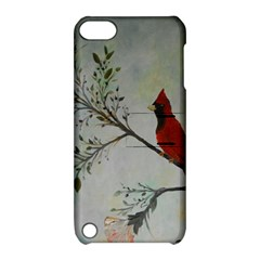 Sweet Red Cardinal Apple Ipod Touch 5 Hardshell Case With Stand by rokinronda