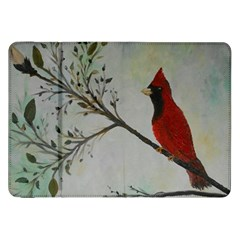 Sweet Red Cardinal Samsung Galaxy Tab 8 9  P7300 Flip Case by rokinronda