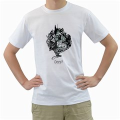 Deep Men s T Shirt (white)  by Contest1918601