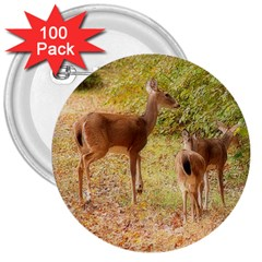 Deer In Nature 3  Button (100 Pack) by uniquedesignsbycassie