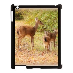 Deer In Nature Apple Ipad 3/4 Case (black) by uniquedesignsbycassie